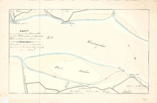 C19-29 Kaart van een gedeelte van het Haringvliet tusschen Hellevoetsluis en den Stadschen Hoek in het begin der ...