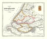 C19-99 Kaart van Zuid-Holland' (in hoes met cat.nr. C19-107), 1857
