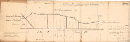 D19-39 Kaart van den nieuw-ingedijkten polder onder de gemeente Stellendam , 1899