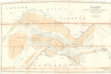 D19-54 Kaart van de perceelen visscherij gelegen in den Grevelingen , 1891