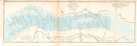 C19-96 Kaart van een gedeelte der Rivier het Haringvliet, begrepen tusschen de haven van Middelharnis en het zeegat van ...