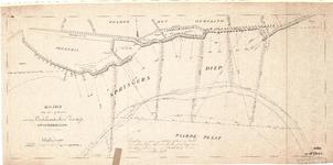 D19-46 Kaart van een gedeelte van den Oudelandschen Zeedijk op Goedereede , 1877