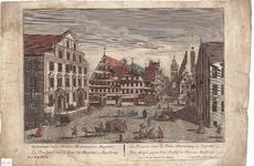 Optica 5 Laniarium versus Portam Minoritarum Augustae. La Boucherie versla Porte des Minorites a Augsburg. La Bec-caria ...