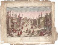 Optica 17 Vue des sept tours, ou Prisons d'État à Constantinop-le. (in hoes met Optica 16) (straat in oosterse stad met ...