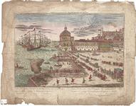 Optica 21 Vue du Port de Lisbonne (in hoes met Optica 20) (havenbekken met pier en toren. Kade met goederen L.O. ...