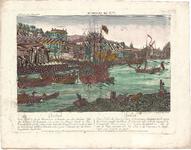 Optica 31 Quebeck (in hoes met Optica 30) (groot zeegaand schip M. met aken L. en stad aan de overzijde), ca. 1770