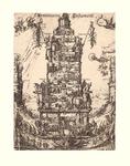 J17-01 't Arminiaens Testament (De centrale toren toont verrichtingen van de Arminianen in diverse Hollandse e.a. ...