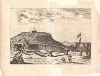 J17-07 Het Fort Nassau van Binnen, met Oranje op 't Eylant Goeree (in een hoes met J17-08) (zie J18-03 + 04 + 05), 1668