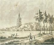 J18-13 Geen (gezicht op kerk Middelharnis), ca. 1750
