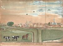J18-15 Gezigt op Ooltgensplaat van de Havendijk. , ca. 1760