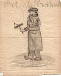 J20-11 Piet als Nachtwachten nog 8 tekeningen over Piet en Klaasje, 1910
