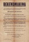 J20-38 Bekendmaking (kopie), 1944