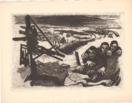 J20-41 Goeree-Overflakkee, rampgebied 1953 2x, (zie cat. nr. J20-42, 43, 44, 45), 1953