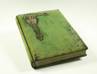 102 Cartes-de-visite album Cellarius-Ten Velde: Album met groene stoffen omslag en fraai beslag. Verzameling ...