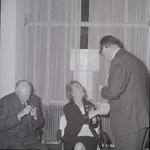 4929 Deventer - Persfotograaf D.W. Nijland: Afscheidsreceptie van de hr. Johan Winkler(1898-1986), hoofdredacteur bij ...