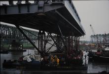 3531 Deventer - SpoorbrugInvaren en plaatsen van de nieuwe spoorbrug naast de Catherine Millerbrug.