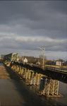 3543 Deventer - SpoorbrugGezicht vanaf de nieuwe spoorbrug.