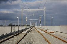 3544 Deventer - SpoorbrugGezicht vanaf de nieuwe spoorbrug.