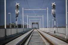 3545 Deventer - SpoorbrugGezicht vanaf de nieuwe spoorbrug.