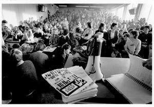 92 1e bezettingsactie en meeting tegen tweefasen-structuur RUG, 01-11-1980 - 30-11-1980