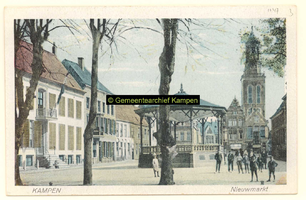 F001147 Christelijke school (gebouw is in 1889 verlaten door hotel Breijinck en gesloopt) in 1905.Voormalig kerkelijk ...