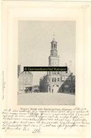 F001155 De Gasthuisstraat in 1902 met een unieke doorkijk naar de IJsselbrug, de kar is een vrachtwagen van de ...