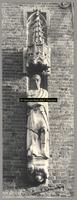 F001379 Zandstenen beeld, voorstellende Karel de Grote, bevestigd aan de gevel van het Oude Raadhuis aan de Oudestraat ...