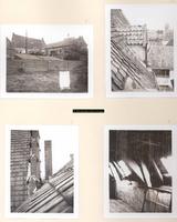 F000845 1) Achterzijden van het Linneweversgilde in de Groenestraat en de doopsgezinde kerk aan de Broederstraat, ...