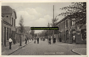 F001178 De Noordweg in de wijk Brunnepe, oudste vermelding is van 1507, rechts vooraan de ingang tot de Spaarbankstraat ...