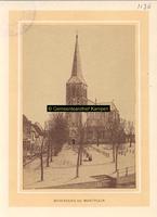 F001136 Het Muntplein met de Bovenkerk rond 1877, het plein werd ook beestenmarkt genoemd omdat het als zodanig in ...