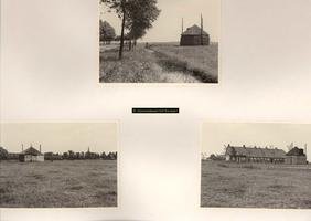 F001087 Boerderij met hooiberg op het Kampereiland - erf 124 van de heer Ten Hove - een drietal foto's.