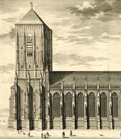 K000027 Sint Lebuinus off Groote Kerk aan de Grote Kerkhof te Deventer ca. 1732. Joost van Sasse, etser, graveur en ...