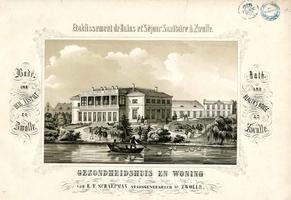 K000024 Etablissement de Bains et Séjour Sanitaire à Zwolle. Gezondheidshuis en woning van E.T. Schaepman, ...