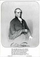 K000724 Portret van Gerhard Heinrich van Senden (1793-1851) orgineel, getekend: Chimaer (= Wilhelmus Cornelis Chimaer ...