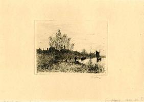 K000614 Grafhorst aan het Ganzendiep ca. 1880-1882, het dorp (vanwege de grootte aangeduid als een dorp) kreeg in 1333 ...