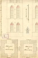 K000199 Teekening van een ontwerp tot verbouwing van den Buitentoren van den Buitenkerk te Kampen, bestaande uit ...