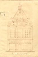 K000619 Vooraanzicht van het winkelpand aan de Oudestraat W.I. 31, plan voor herstelling i.v.m. een restauratie die ...