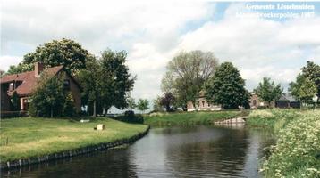F012217 Gemeente IJsselmuiden, de Mastenbroekerpolder bij de kruising van de Rietsteeg met de Oude Wetering.