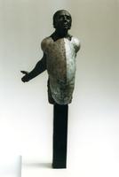 F013057 Voorstudie van het borstbeeld van de Dr. W.J. Kolff, gemaakt de de kunstenaar Norman Burkett. Over de ...