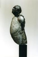 F013058 Voorstudie van het borstbeeld van de Dr. W.J. Kolff, gemaakt de de kunstenaar Norman Burkett. Over de ...