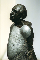 F013060 Voorstudie van het borstbeeld van de Dr. W.J. Kolff, gemaakt de de kunstenaar Norman Burkett. Over de ...