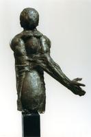F013062 Voorstudie van het borstbeeld van de Dr. W.J. Kolff, gemaakt de de kunstenaar Norman Burkett. Over de ...