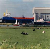 F013263 Scheepswerf Peters aan de Haatlandhaven.