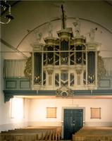 F013303 Kerkorgel van de Hervormde Kerk in de Dorpsweg te IJsselmuiden. Bouwers van het orgel waren 1. Matthias ...