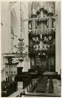 F004548-1 Interieur met orgel van de St. Nicolaas of Bovenkerk. Dit beroemde orgel is gebouwd door A.A. Hinsz in 1743, ...