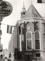 F000218 De achterzijde van de Broederkerk met de Lemkerzaal. Het kerkgebouw behoorde oorspronkelijk toe aan het ...