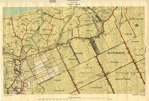 K000005 No. 287 IJsselmuiden. Topografische kaart van delen van de gemeente IJsselmuiden, de polder Mastenbroek en het ...
