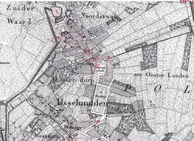 K001801-02 'In Grafhorst. Ruïne van Hend. en Jacob Penninkhof'. Een pentekening, d.d. 15-02-1825 uit het aantekenboekje ...