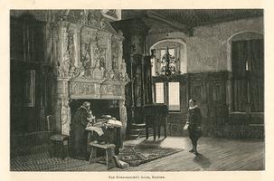 K001726 The Burgomaster's Room; De Burgemeesters kamer in het Oude Raadhuis aan de Oudestraat.