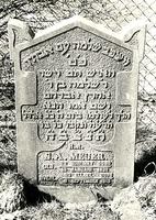 F003944 Grafsteen van S.A. Meijer, geboren 19 januari 1828/22 Schewat (5)598). En Salomo ging bij zijn vaderen te ruste ...